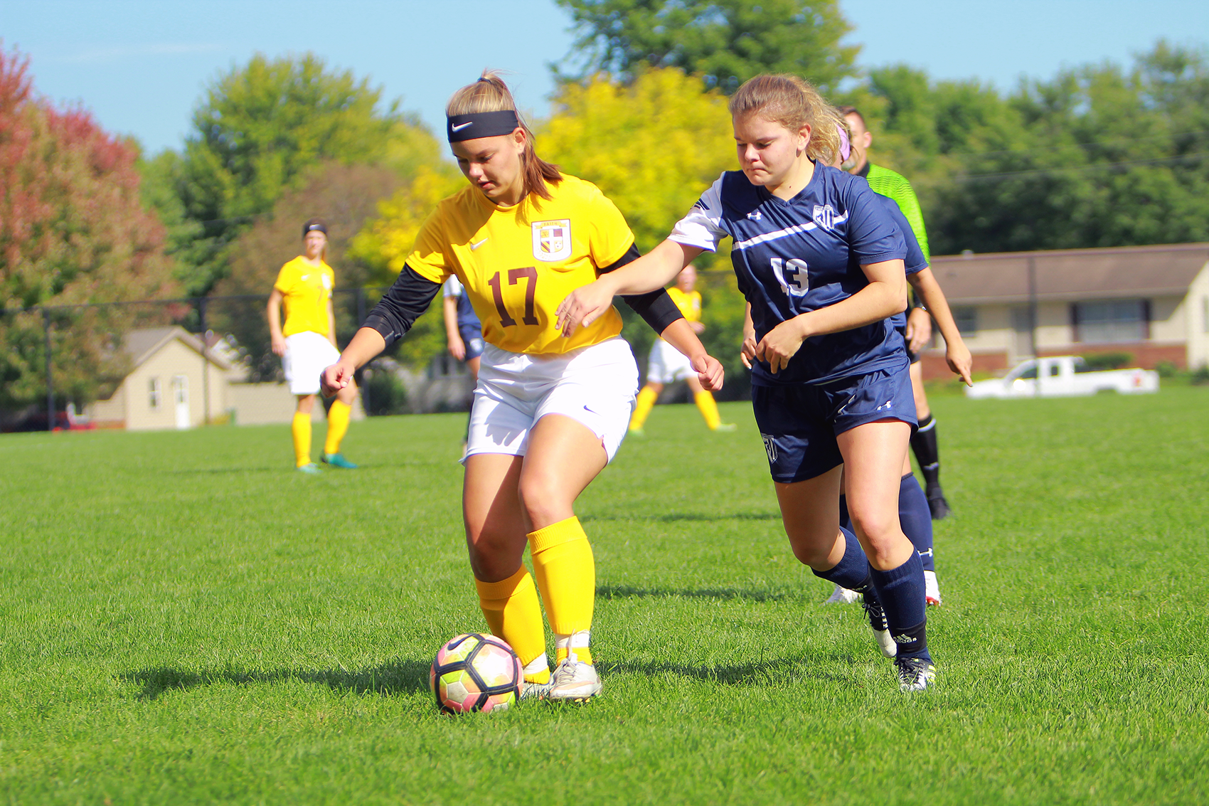 Lydia Trygstad scored one of Faith's two goals in a win over Iowa Wesleyan