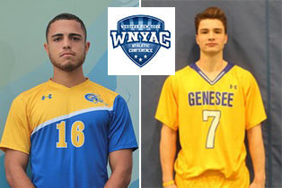 Rodrigo Albuquerque (Men's Soccer - L) and Jason Chiodo (Men's Lacrosse - R) were named the 2018-19 WNYAC Male Athletes of the Year