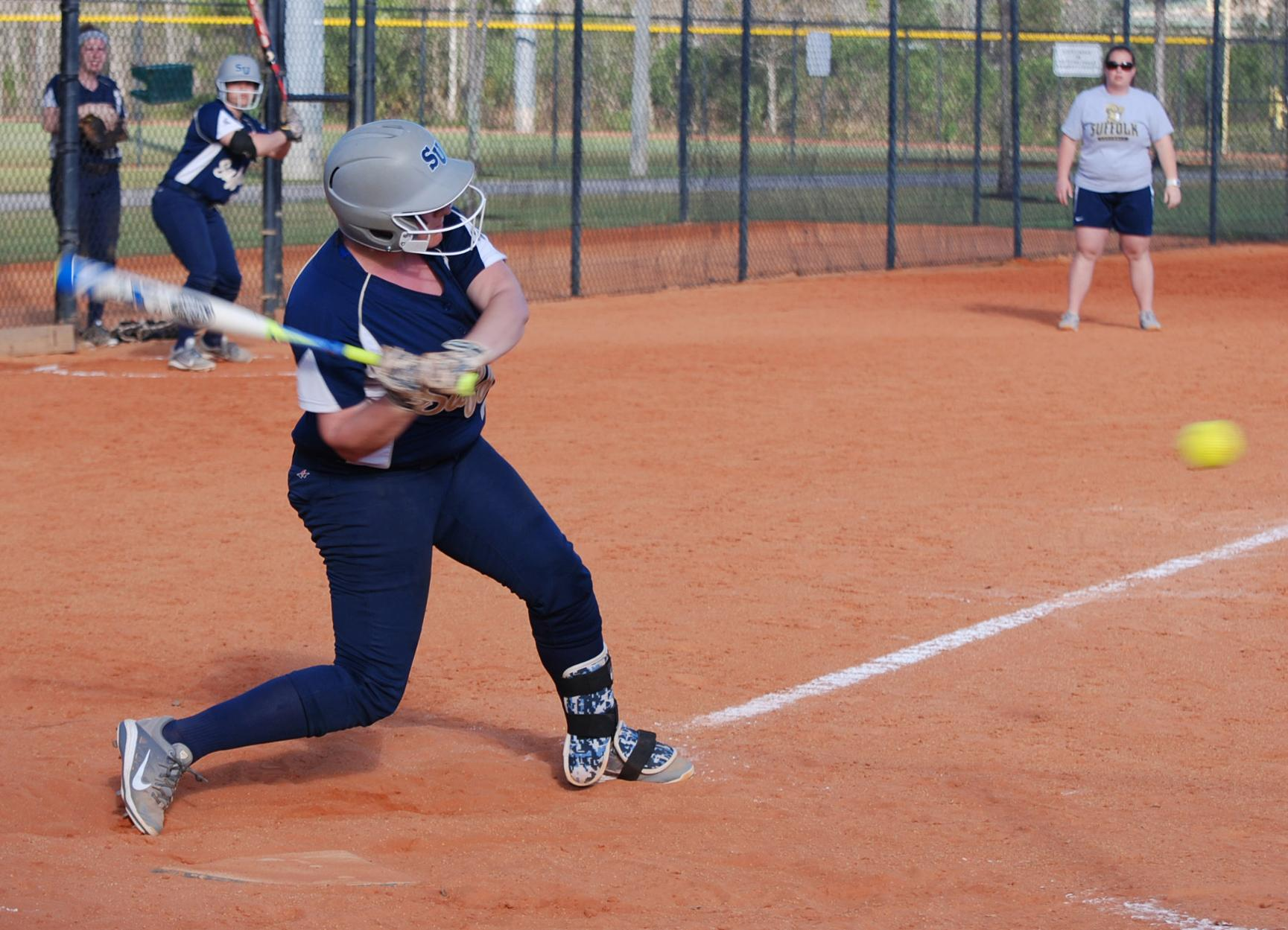 Softball Hits 30-Win Mark with Two Victories at Curry