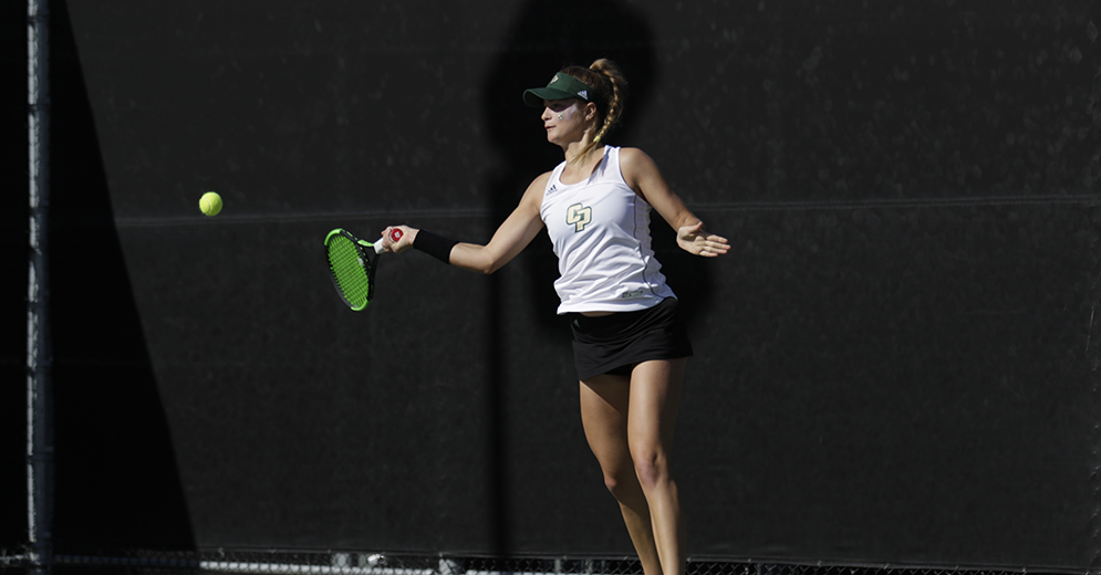 Olyphant Wins Third Straight, Cal Poly Women's Tennis Falls to Sacramento State