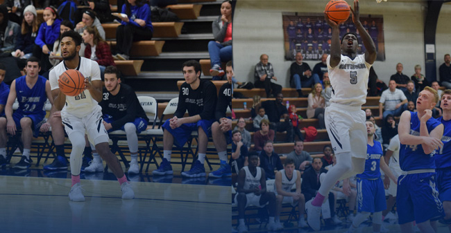 Jimmy Murray '19 and Oneil Holder '19 both reached the 1,000-point milestone versus Elizabethtown College.