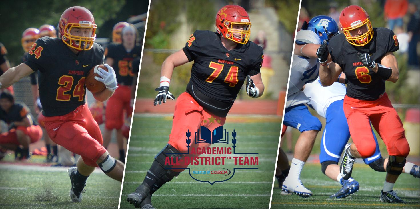 Three named to Academic All-District Football Team