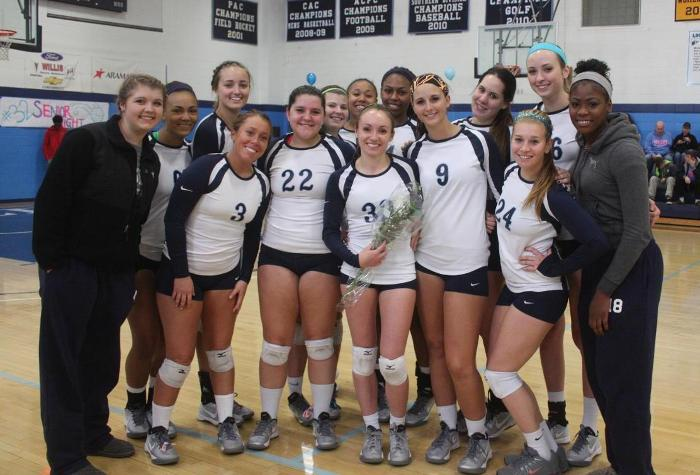 Volleyball Routs Washington Adventist on Senior Day