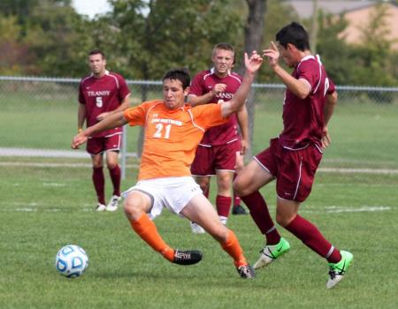 No. 12 Men's Soccer battles to physical 2-0 victory over Transylvania (Ky.)