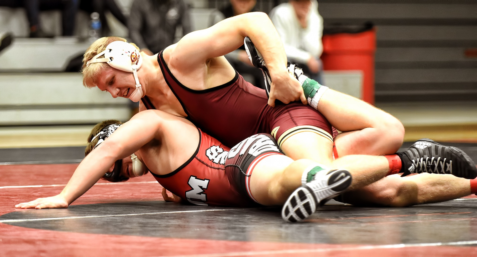 Freshman Gabe Zierden was one of two Cobber wrestlers to advance to the semifinals at the NCAA Upper Midwest Region Meet.