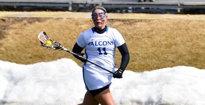 Barry's four goals leads Women's Lacrosse to important road victory
