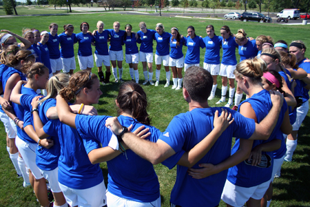 Women's Soccer Opens Practice with Intensity