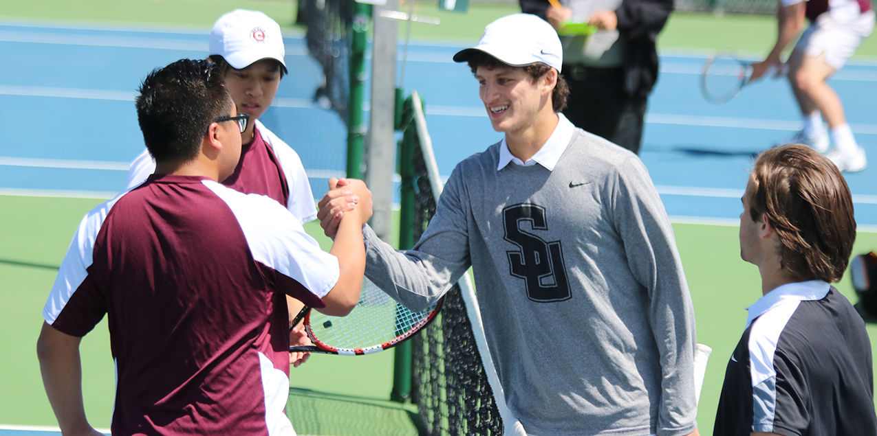 Southwestern Defeats Centenary in the Opening Round of the SCAC Men's Tennis Tournament