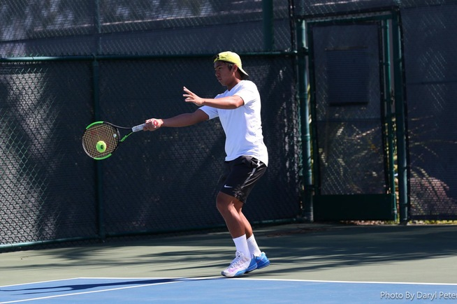 File Photo: Nico De La Pena won in straight sets.