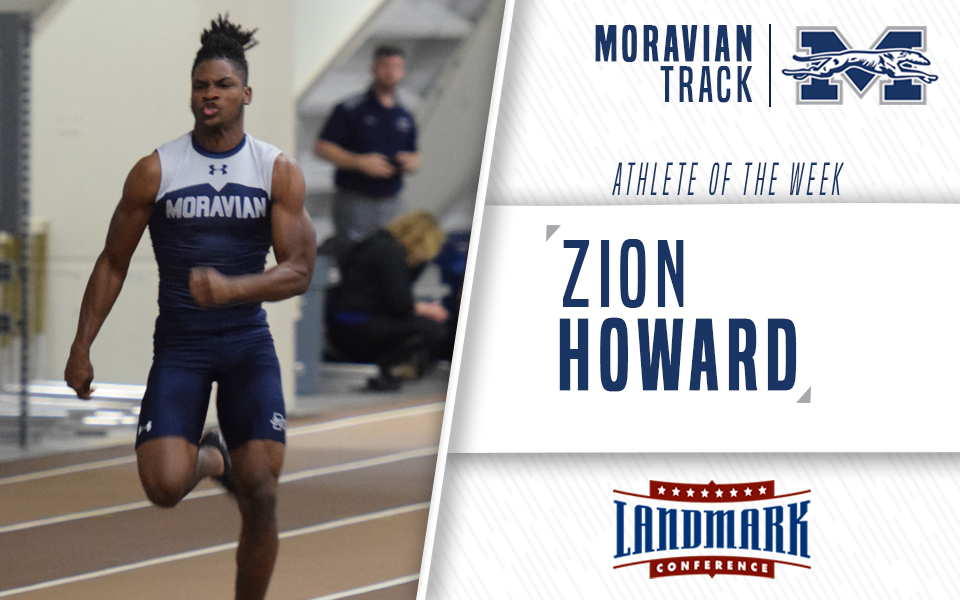 Zion Howard selected as Landmark Conference Men's Track Athlete of the Week