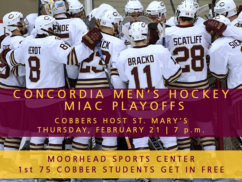 Cobber men's hockey playoff announcement