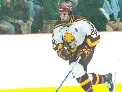 Defenseman Zach Redmond was named Ferris State's MVP for the 2008-09 season. (Photo by Ed Hyde)