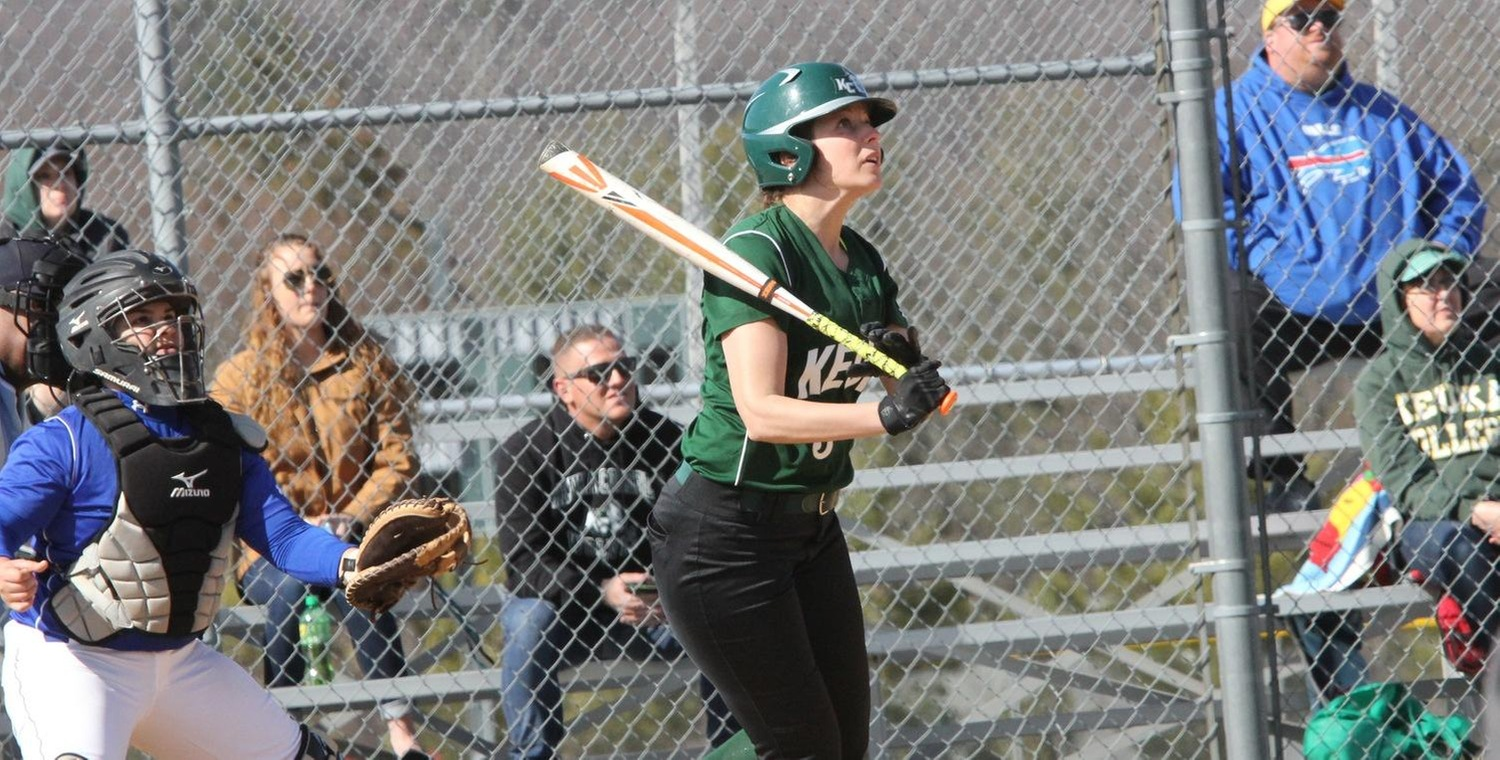 Shannon Johnson (3) hit her first career home run for Keuka College on Saturday -- Photo by Ed Webber