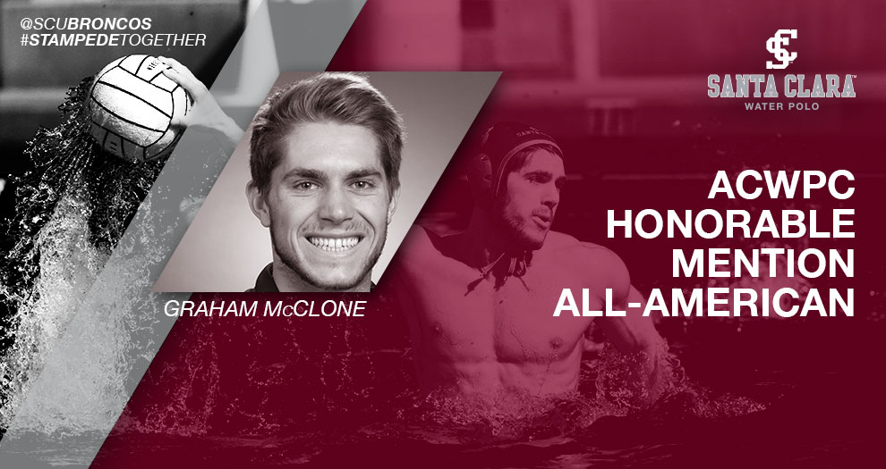 McClone of Men's Water Polo Earns All-America Recognition
