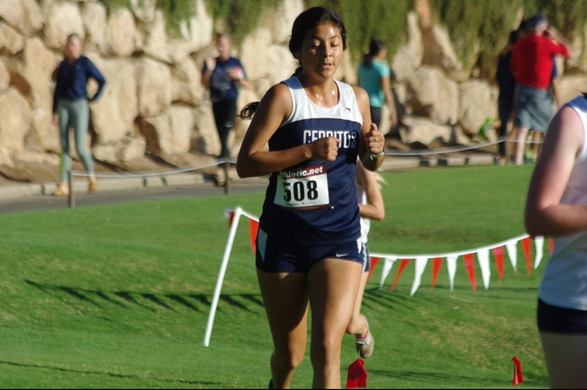 Cerritos women's cross country competed in Las Vegas