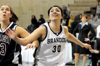 Chapin, Courtney lead Brandeis women past Bates