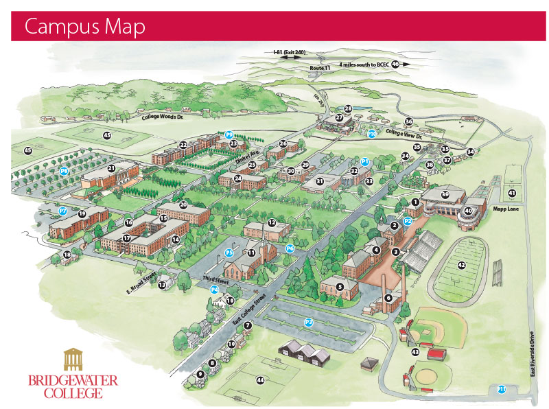 bridgewater college campus map