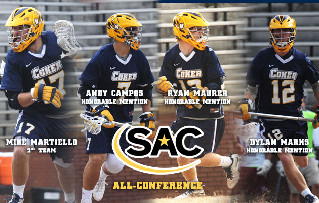 Four Coker Men's Lacrosse Players Named All-Conference