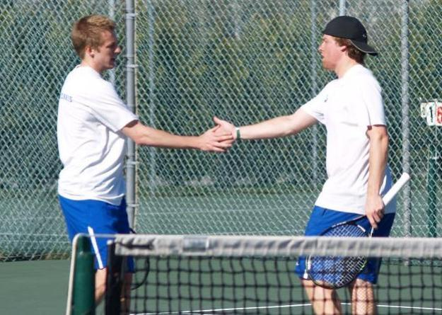 Isch (left) and Rosenfeld (right) teamed-up for a victory at No.1 doubles