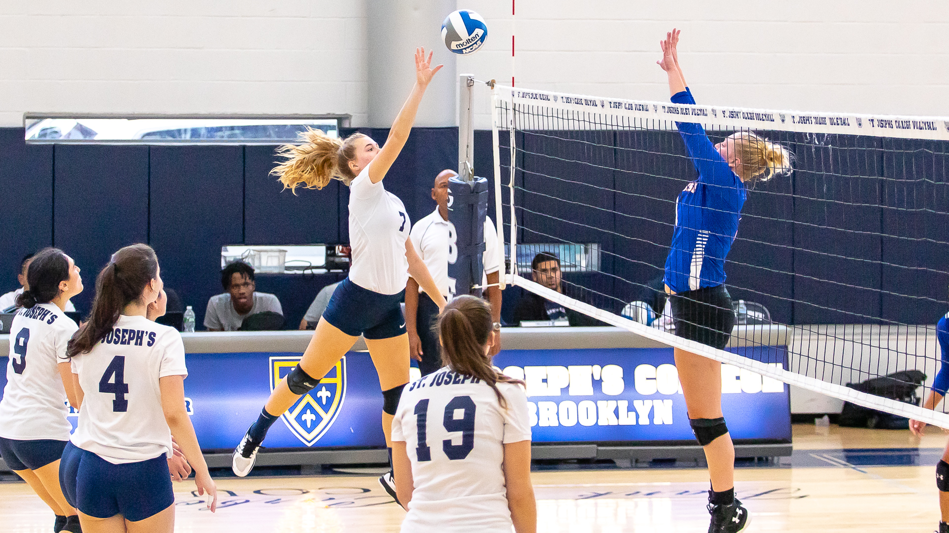 Women's Volleyball Hits .338 to Salvage Split of Tri-Match in Sweep of Purchase