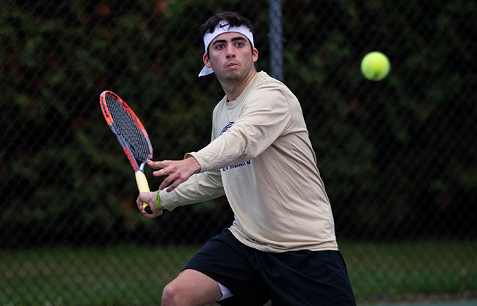 Men's Tennis Returns to Action After Month Layoff, Downs NVU-Lyndon