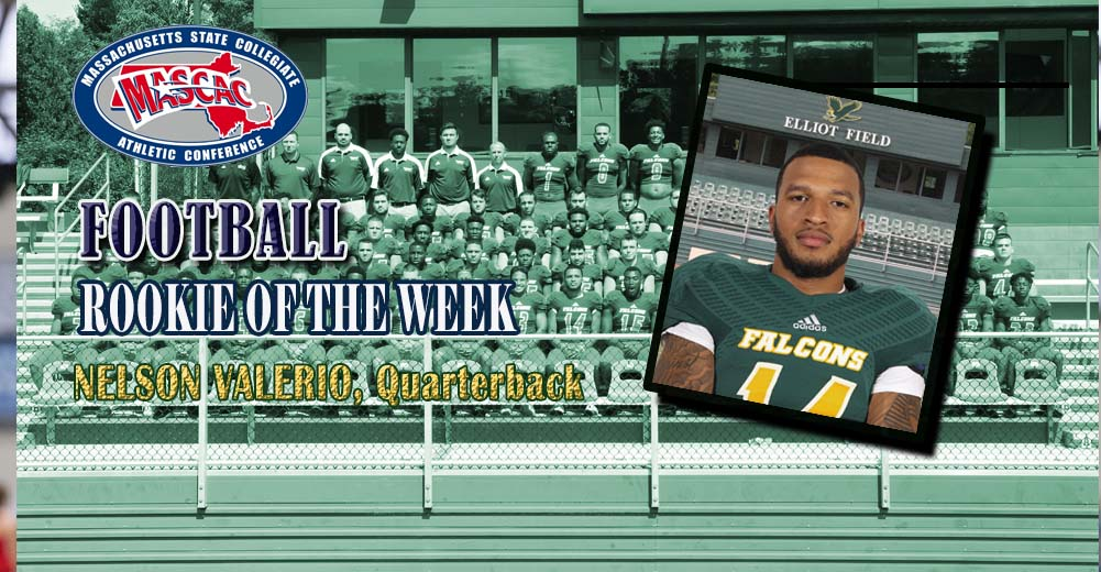 Valerio Selected MASCAC Football Rookie Of The Week