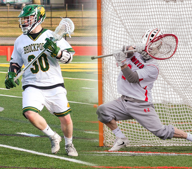 Recor and Flynn selected as Men's Lacrosse Athlete and Goalie of the Week