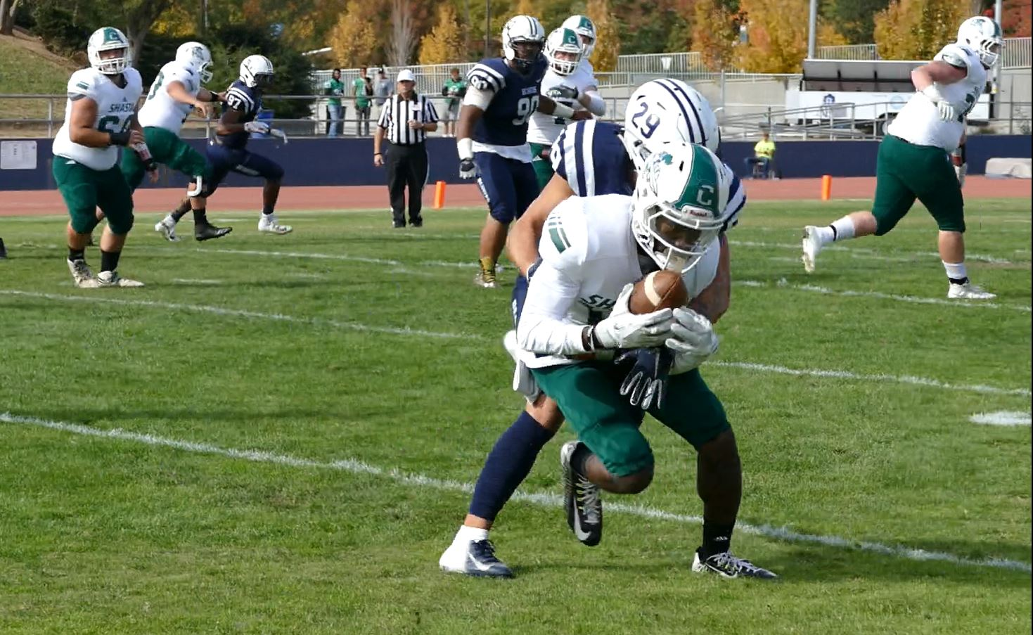 SHASTA FALLS FLAT IN SECOND HALF IN 44-17 LOSS TO NO. 24 AMERICAN RIVER