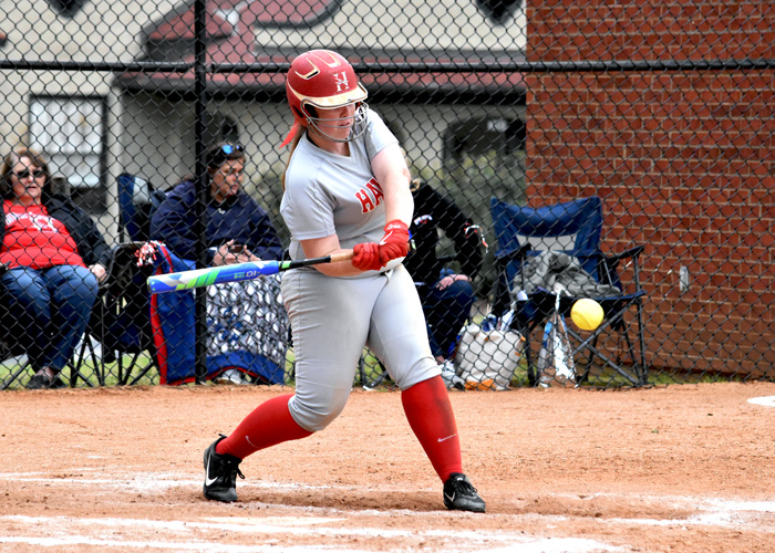 Freshman Samara Miller was 5-for-8 with a run in Sunday's doubleheader at Maryville.