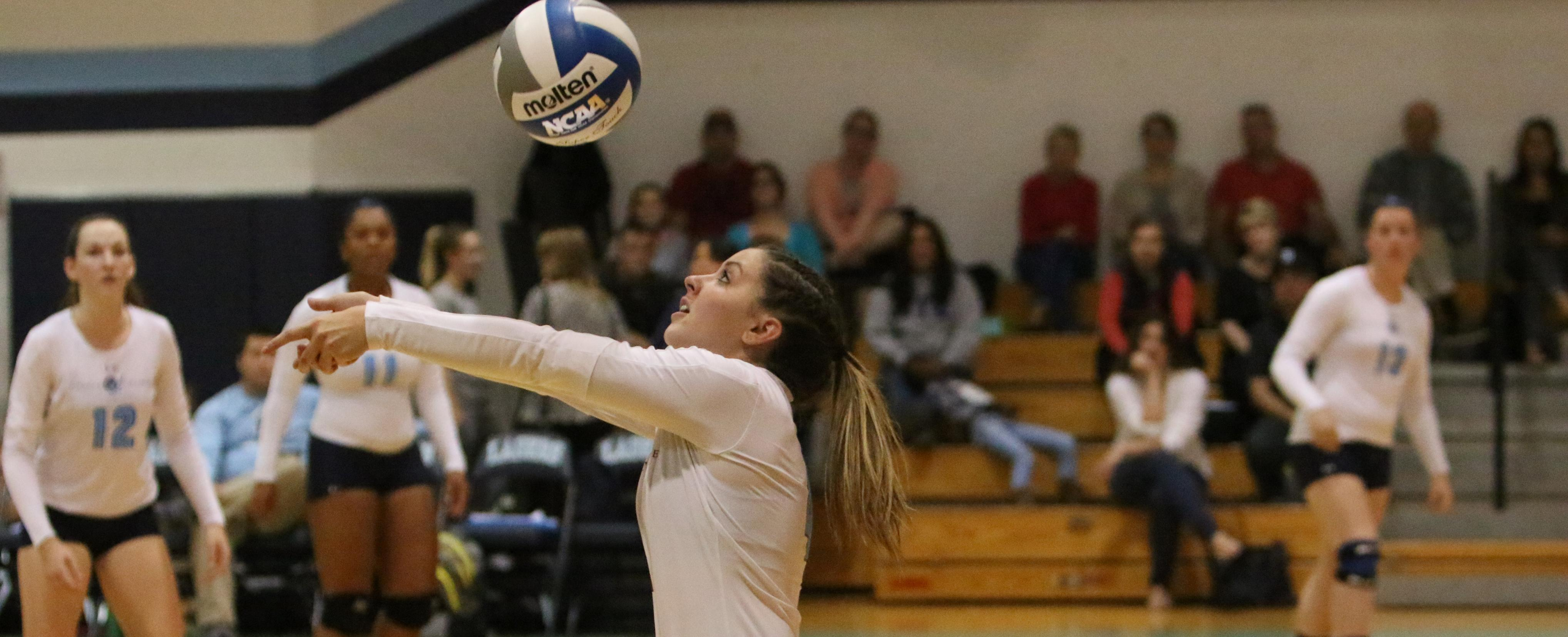 Women's Volleyball Splits with Albertus, JWU in GNAC Tri-Match