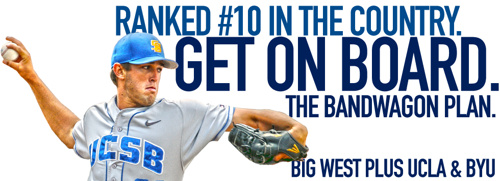 Get on Board: The No. 10 Gaucho Baseball Bandwagon Ticket Plan