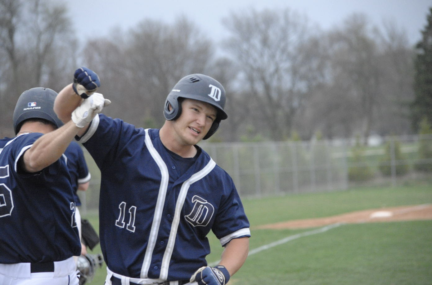 Matt Krambeck celebrates after home run