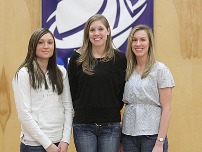 Lady Mariners Honor Jersey's Of Shelley Gott, Julia Knights, and Alyssa Burns