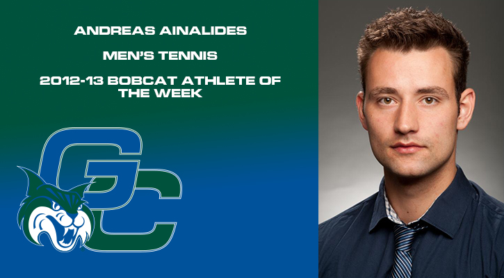 Ainalides Earns Bobcat Athlete of the Week Honors