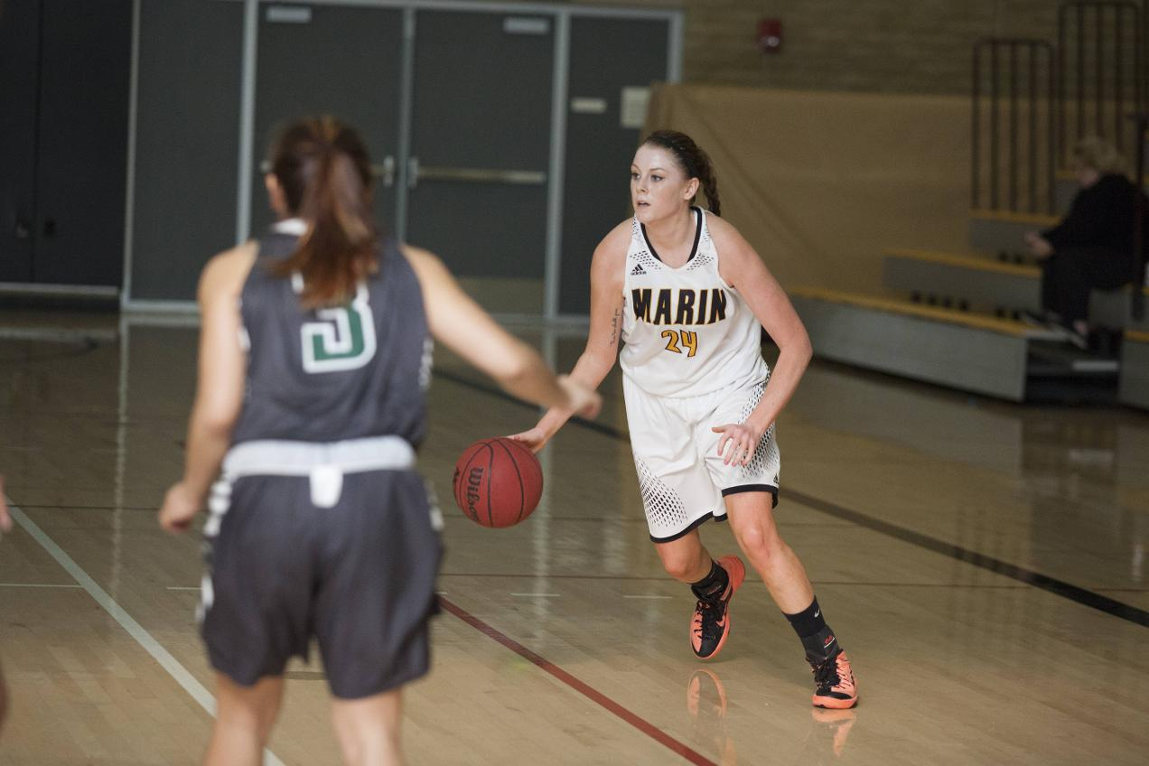 Mariners Handle Mendocino College on Sophomore Night 64-35