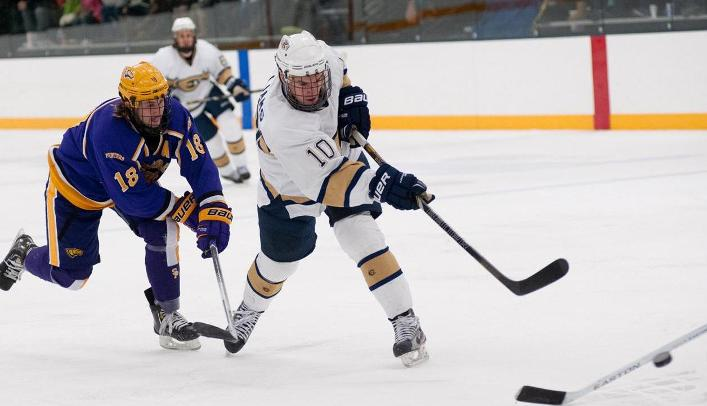 Men's Hockey Stumbles at Nationally-Ranked UW-Stevens Point