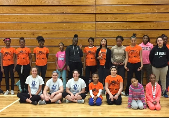 WOMEN'S SOCCER MEMBERS RUN DREAM BIG! CLINIC FOR INNER-CITY YOUTHS