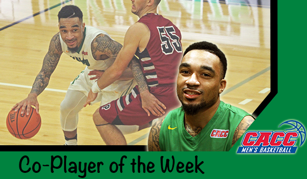 Men's Basketball's Tyaire Ponzo-Meek Named CACC Co-Player of the Week; Grant Earns Honor Roll