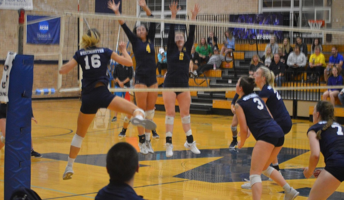 Westminster Volleyball Earns Conference Win at Spalding