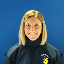 Simmons Head Soccer Coach Erica Mastrogiacomo has been named the Great Northeast Athletic Conference 2009 Coach of the Year, the GNAC announced Friday evening. The honor comes after a fall season in which Mastrogiacomo led the Sharks to a 9-5-3 regular season record (7-2-3 GNAC) and a GNAC Championship, after earning a berth in the conference post-season tournament as the fifth seed.