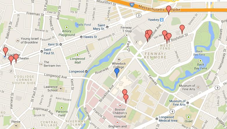 simmons college campus map. click on the map of local dining options in fenway area. simmons college campus s