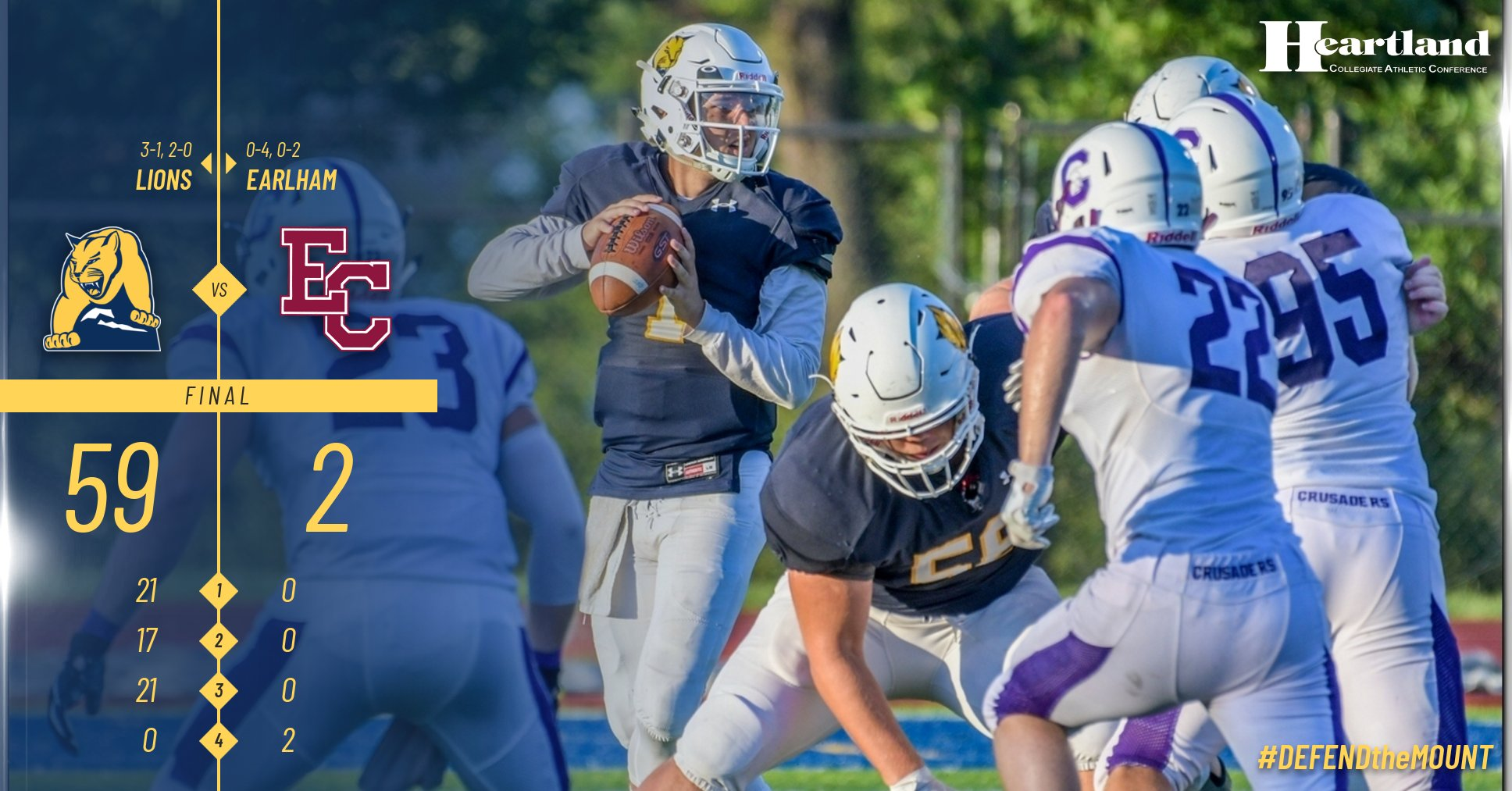 The Mount football team dominant in win over Earlham