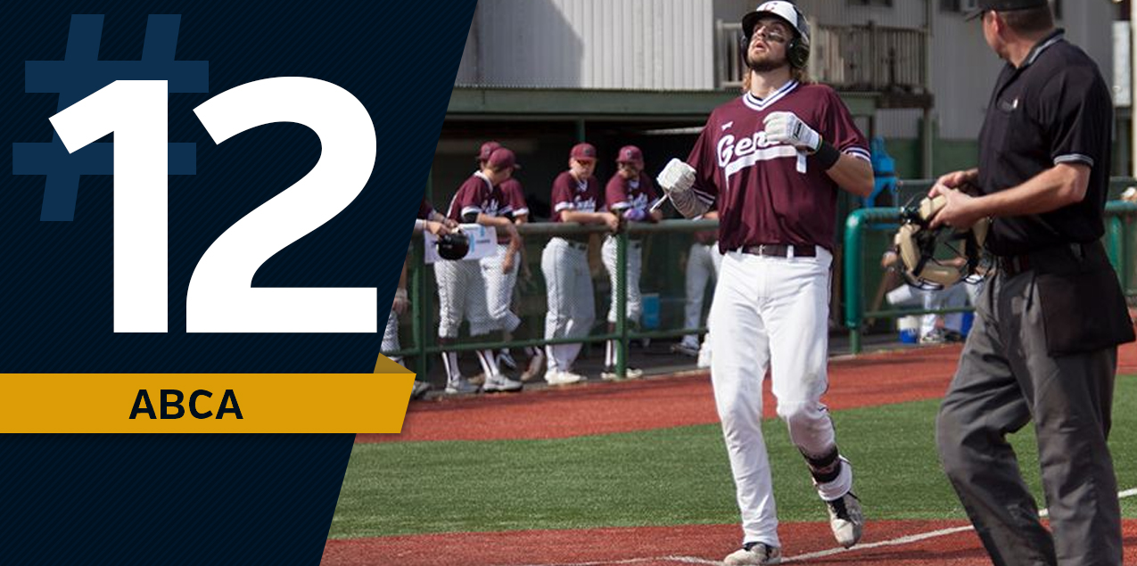 Centenary Ranked No. 12 in ABCA/Collegiate Baseball Poll