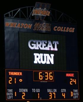 Wheaton's new scoreboard