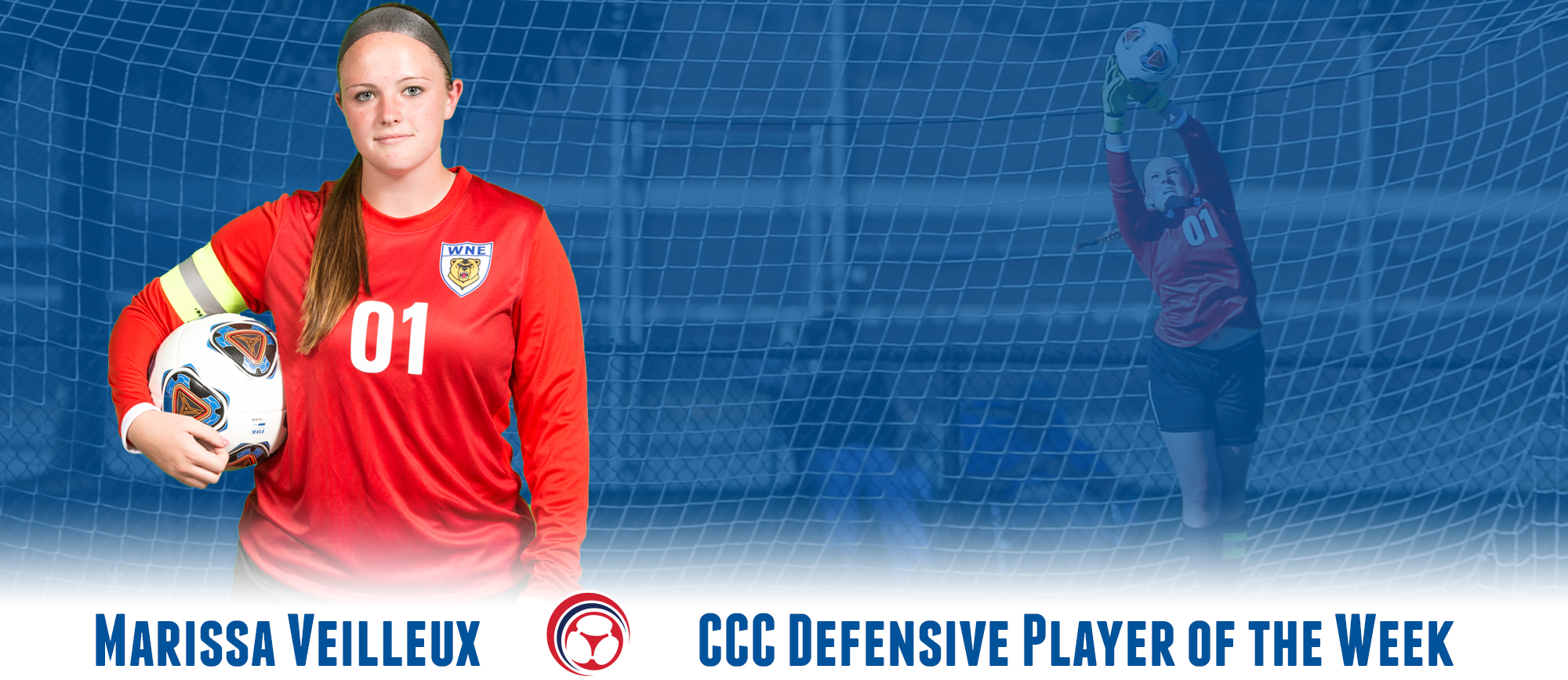 Marissa Veilleux Receives Second CCC Defensive Player of the Week Award