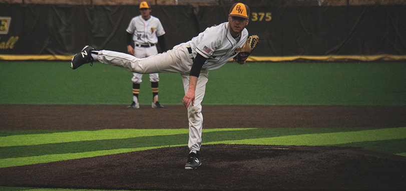 Senior Griffin Watterson struck out a career-tying three hitters in the loss to Case Western Reserve (Photo Courtesy of Alec Palmer)