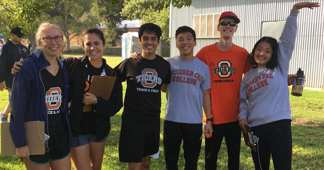Occidental Cross Country Volunteers at Annual Muscular Dystrophy Association 5K