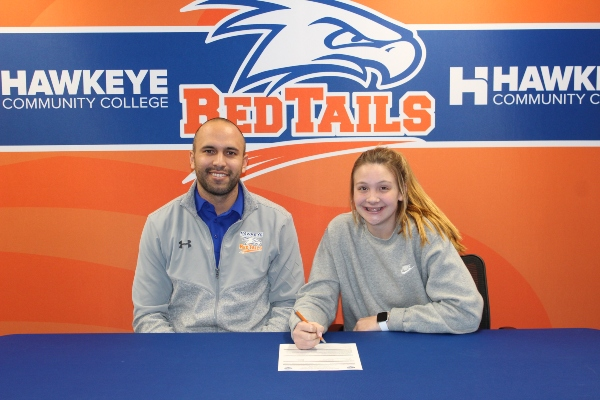 RedTails Track and Field Signs Drake Qualifier Allison Flanscha