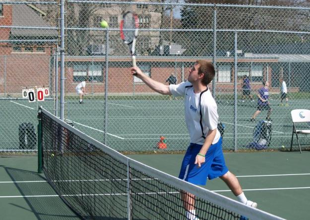 Salve Regina dominated net play in its three doubles matches but only had one win to show for it; the Seahawks rallied for four singles wins to clinch their first team victory of 2012-13.