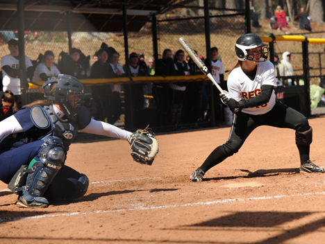 REGIS COLLEGE WINS BIG IN DOUBLEHEADER